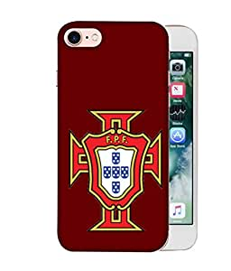 ColorKing Football portugal 08 Red shell case cover for Apple iphone 8