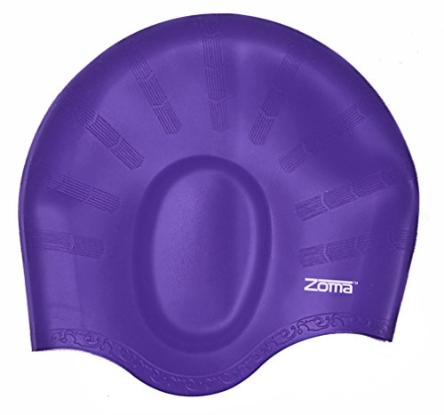 Zoma Swim Cap with Nose Clip - Purple