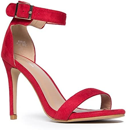 2ff21e219375 J. Adams Ankle Strap High Heel Strappy Sandal - Dress Wedding Shoe - Sexy  Comfortable
