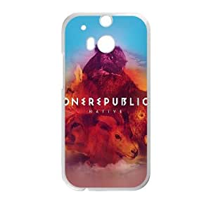 HTC One M8 Cell Phone Case White One Republic Band Cover Art LSO7873295