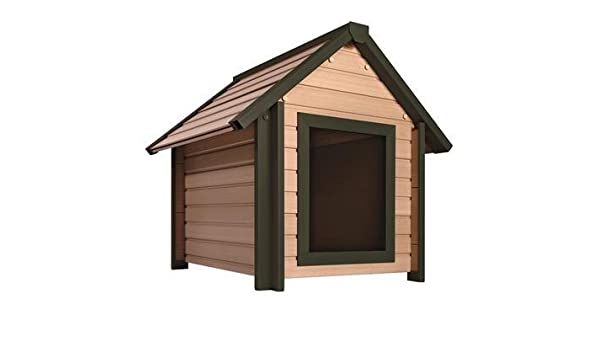Eco - Caseta de perro estilo cabaña. Mejor que la madera, mejor que el plástico, lo mejor de ambos.: Amazon.es: Productos para mascotas