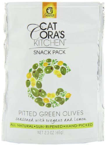 Cat Cora's Kitchen Pitted Green Olives, Oregano and Lemon, 2.3 Ounce (Pack of 8) ()