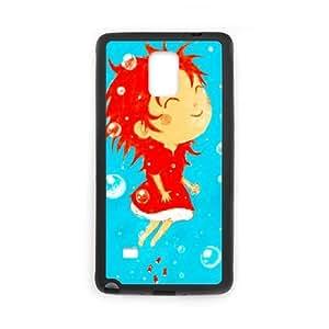 Ponyo funda Samsung Galaxy Note 4 Cell Phone caso funda F9D8EXXEPV negro