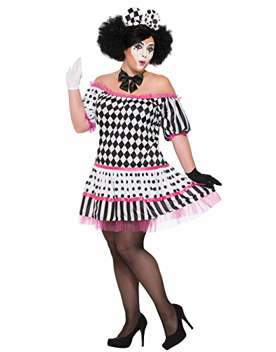 Forum Women's Harlequin Clown Tiers Dress Costume, As Shown, (Harlequin Plus Size Costumes)