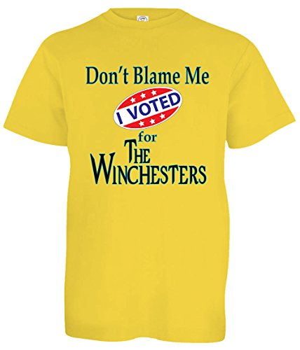 Tenacitee Boy's Youth Voted for The Winchesters T-Shirt, Large, Yellow