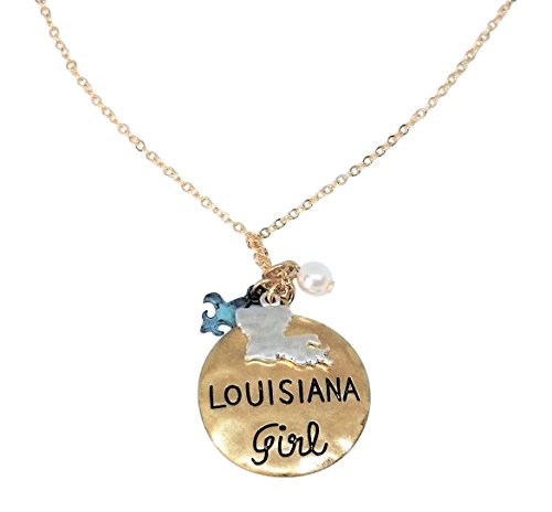 Loaded Lids State Girl Mix Charm Pendant Necklace, 16