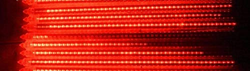 W·Z LED Meteor Shower Rain Lights,Drop/Icicle Snow Falling Raindrop 30cm 8 Tubes Waterproof Cascading Lights for Wedding Xmas Home Decor (Red) ()