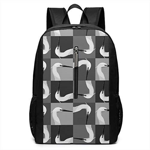 LFCLOSET Egret Head Outdoor Lightweight Backpacks School Work Travel Shoulder Daypacks