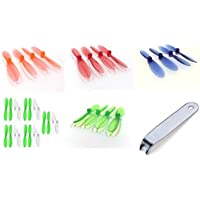 Hubsan X4 H107D 5.8Ghz [QTY: 1] Green White 55mm Propellers Blades Props 5x Propeller Blade Prop Set 20pcs Drone Parts Drones [QTY: 1] Transparent Clear Blue Rotor Factory Units [QTY: 1] [QTY: 1] Red