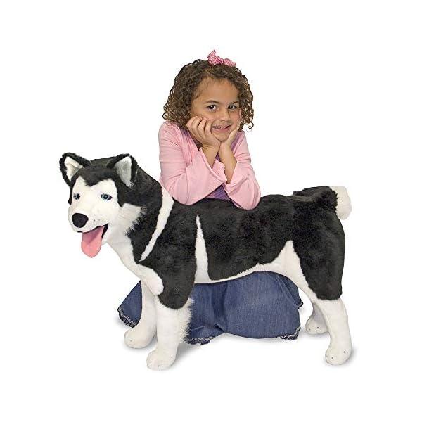 Melissa & Doug Giant Siberian Husky - Lifelike Stuffed Animal Dog (Over 2 Feet Tall, Great Gift for Girls and Boys - Best for 3, 4, 5, and 6 Year Olds) 1