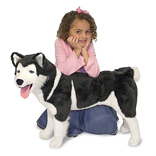Melissa & Doug Giant Siberian Husky - Lifelike Stuffed Animal Dog (Over 2 Feet Tall, Great Gift for Girls and Boys - Best for 3, 4, 5, and 6 Year Olds)