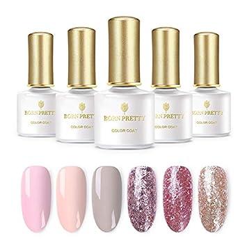 Amazon.com   BORN PRETTY Glitter UV Gel Nail Polish Set 28f448c47655