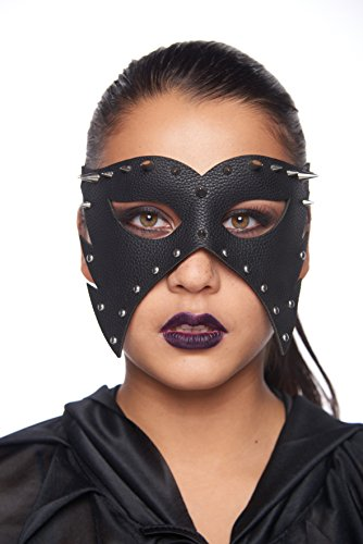 KII Barbed Steam Punk Masquerade Mask (Unisex; One Size Fits Most; Leather look with -