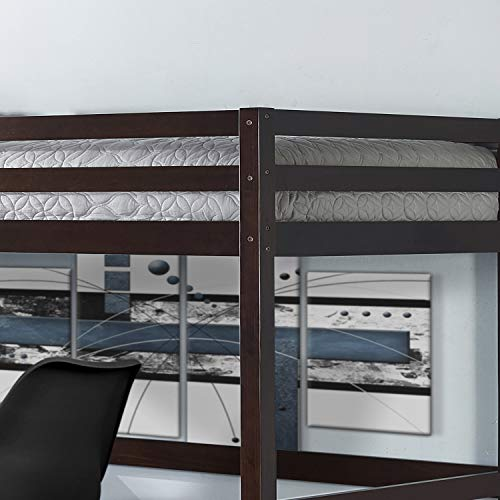 Hillsdale Furniture 2176-320 Hillsdale Caspian Twin Loft Bed, Chocolate
