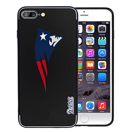 Apple Metal Plates - Patriots iPhone 7 Plus Case - Patriots iPhone 8 Plus Case - Slim Magnetic Phone Case for Magnet Car Phone Holder with Built-in Metal Plate, Protective Cover for iPhone 7 Plus/8 Plus 5.5-inch Black