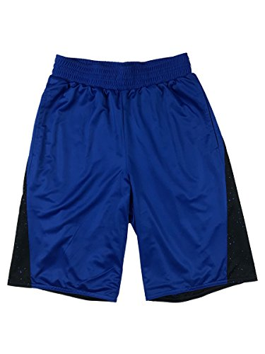 Air Jordan Retro 5 Reversible Jumpman Basketball Shorts (Medium, Blue/Black) (Air Jordan Retro Shorts)