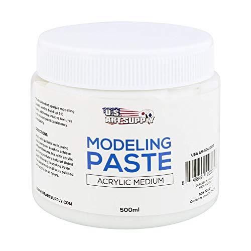 U.S. Art Supply Modeling Paste Acrylic Medium, 500ml Tub (Molding Supplies)