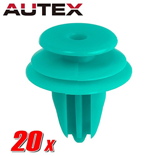 PartsSquare 20pcs Fender Liner Fastener Rivet Push Clips Retainer Replacement for Toyota 4Runner Avalon Camry Corolla Echo Highlander Land Cruiser Matrix Prius RAV4 Sequoia Solara Tacoma Tundra ()