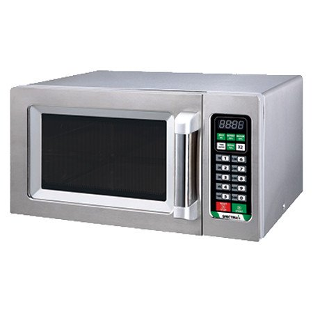 Commercial Microwave Silver (Winco EMW-1000ST, 1,000 W Spectrum Commercial Stainless Steel Touch Control Microwave)