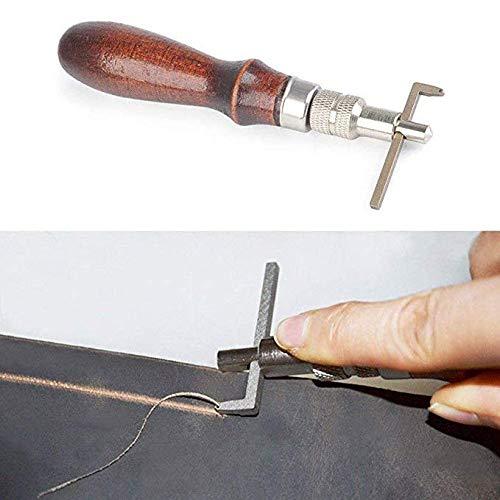 Kit de herramientas de encuadernaci/ón,31 piezas herramientas de costura premium para cuero,libros hechos a mano y papel DIY Bookblinding Set,incluyendo agujas de costura//hilo encerado//papel Awl