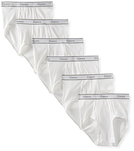 Cotton Tagless Brief - Hanes Men's Tagless Cotton Brief (Pack of 6) (XX-Large, White)