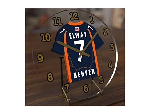 FanPlastic John Elway 7 Denver Broncos Desktop Clock - National Football League Legends Edition !! (Best Top League Of Legends)