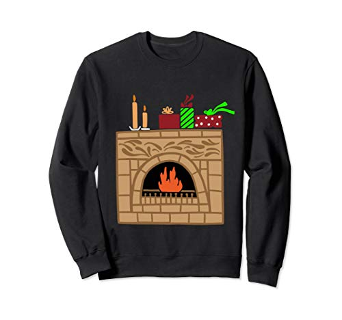 Christmas Fireplace Sweatshirt Xmas Ugly Shirt Contest ()