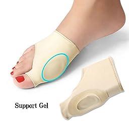 JAPAN SOLUTIONS Bunion Relief Gel Bootie Pads Sleeve Toe Straightener Corrector Regulator for Hallux Valgus, Pain Relief, Treatment