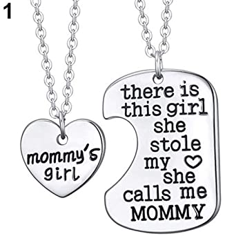 69d525db955 Bluelans 2 Pcs Family Love Father Daughter Little Heart Joint Pendant  Necklace Set Daddy s Daughter Best