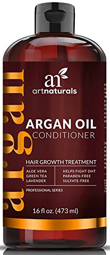 ArtNaturals Organic Argan Oil Conditioner For Hair Regrowth 16 Oz Sulfate Free Treatment For Hair Loss And Thinning Growth Product For Men Women Infused With Biotin