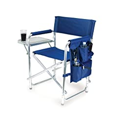 Picnic Time Portable Folding \'Sports Chair\', Navy
