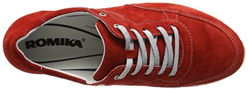 18 Donna Rosso Romika Tabea Rot Brogue Scarpe vwqngRF