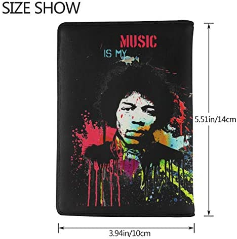 ジミ・ヘンドリックス Jimi Hendrix パスポートケース メンズ 男女兼用 パスポートカバー パスポート用カバー パスポートバッグ 小型 携帯便利 シンプル ポーチ 5.5インチ高級PUレザー 家族 国内海外旅行用品