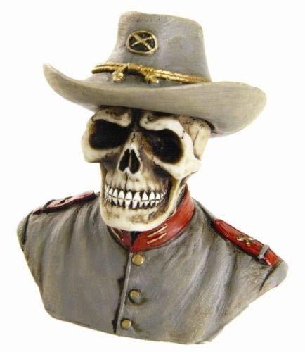 Figurine Rare Miniature Skeleton Us South Civil War General Soldier Statue Cute ()