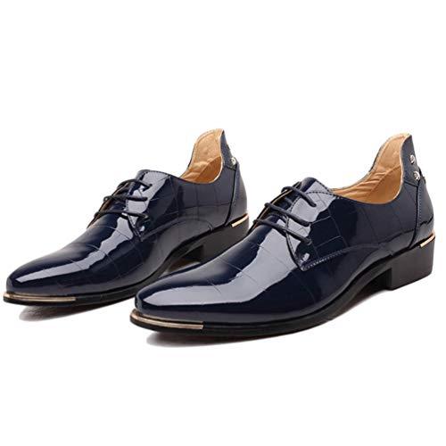 Negocio Azul Vestido Formales Cuero Oxford Zapatos De Hombres Boda El para Zapatos Masculino w8gxgO