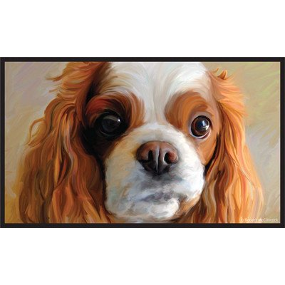 Cavalier Door (Little Gifts Floor Mat, Cavalier King Charles)