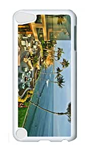 Ipod 5 Case,MOKSHOP Cute Seascape San Diego California Hard Case Protective Shell Cell Phone Cover For Ipod 5 - PC White
