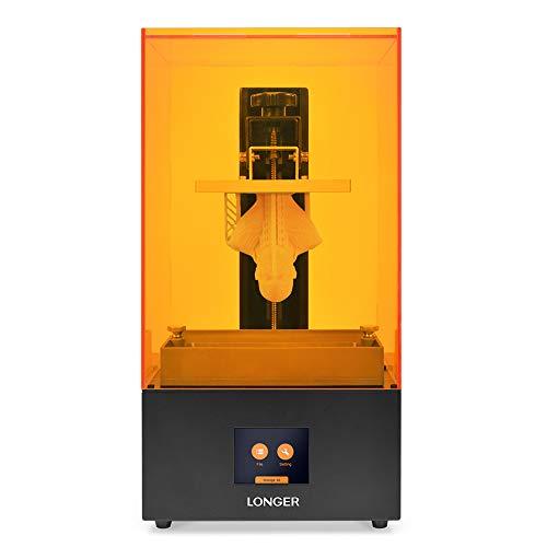 "LONGER Orange 30 3D Printer, Upgraded Resin SLA 3D Printer with 2K High-Resolution, Parallel LED Lighting, 4.72""x2.68""x6.69"" Large Printing Size, Off-line Printing"