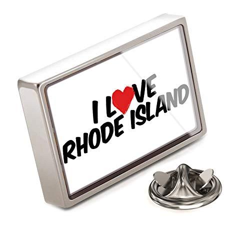 (NEONBLOND Lapel Pin I Love Rhode Island)