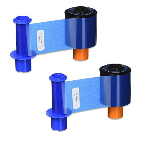 Fargo 45200 YMCKO Color Ribbon for DTC4500 & DTC4500e Printers 500 Prints – 2 Pack