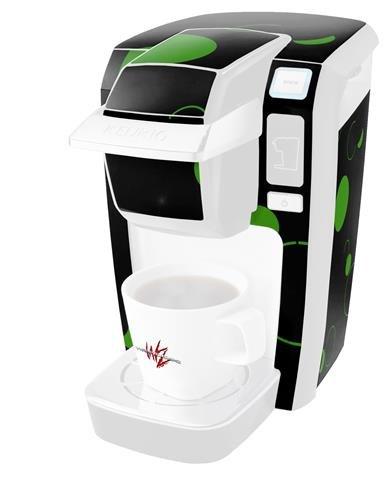 多くのドットグリーンonブラック – デカールスタイルビニールスキンKeurig k10 / k15 Mini Plusコーヒーメーカー( Keurigに含まれません   B0181D9QU2
