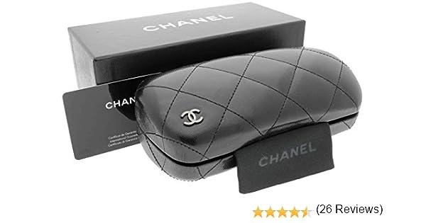 Rare Chanel Acolchado Gafas de Sol Caso y Funda y folleto y Tarjeta en Caja de presentación: Amazon.es: Ropa y accesorios