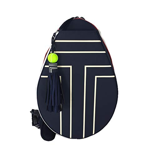 Tory Burch Sport Tennis Racket Sling Backpack Racquet Bag, Tory Navy