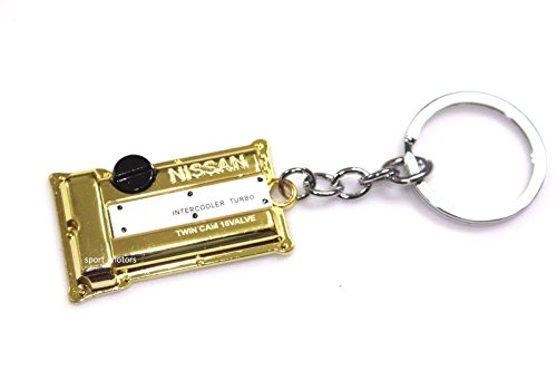 (Nissan SR20DET Style Silvia S13 S14 S15 Engine Valve Cover Keychain (Gold))