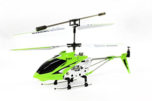 Syma S107 3 Channel RC Helicopter with Gyro, Green 41DXmXGqMqL