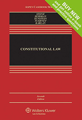 Constitutional Law [Connected Casebook] (Aspen Casebooks) cover