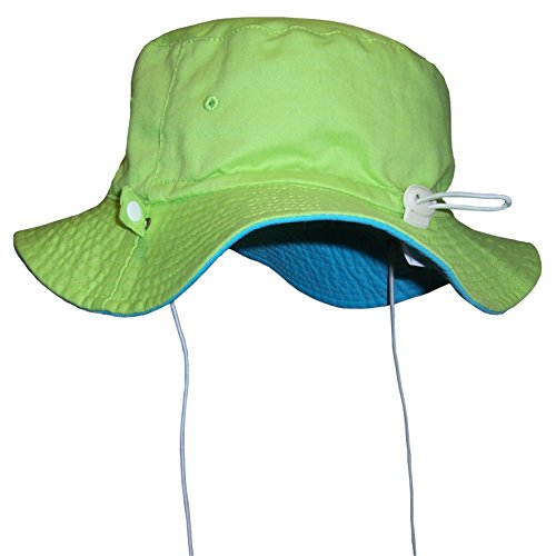 N'Ice Caps Unisex Kids Reversible And Adjustable Cotton Twill Aussie Hat (50cm (19.7