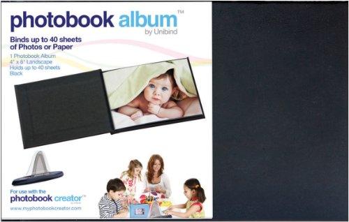 """Photobook Album 4""""X6"""" 1/Pkg-Black 5mm"""