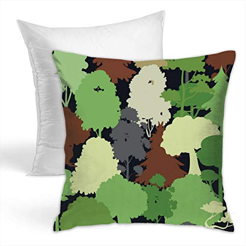 (Eratdatd Deep Forest Camouflage Seamless 42x42cm Popular Pillowcase£¨Hold Pillow£, Suitable for Sofa Cushion and Bed Pillow, Fashion Pillow)
