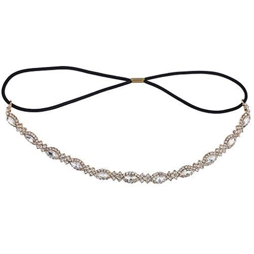 (Lux Accessories Bridal Occasion Crystal Rhinestone Statement Elastic Headband)